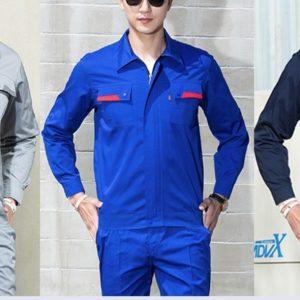 B304定制工作服套裝長袖撞色工程服舒適透氣耐磨