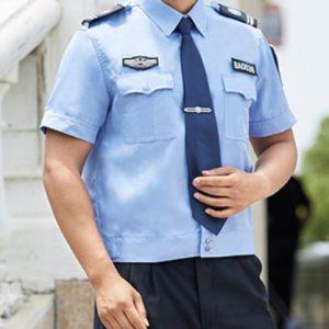 B311男士高級工作服藍色袋蓋金紡呢