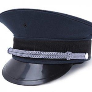 B312 保安男女高檔帽, 有金邊線