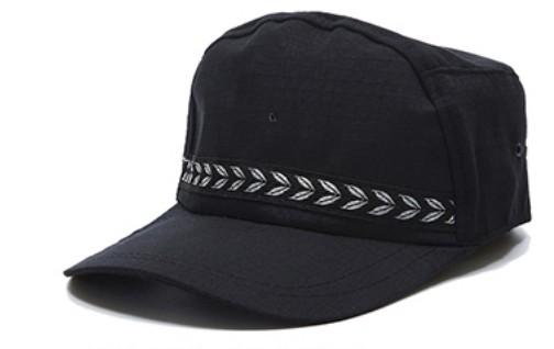 B316 保安大陽帽,帆布黑色繡花樣