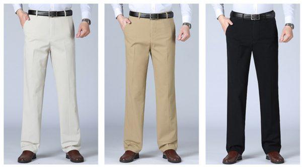 B319 杏色男西褲,直腳高級 西褲布料