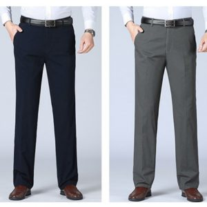 B320 黑色有型男西褲,前幅2個斜袋布料凡立丁