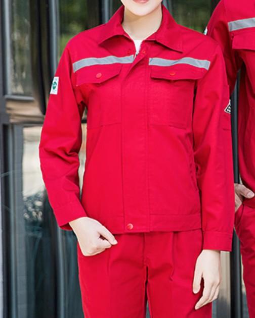 D607訂制工作服套裝3M反光條可印字刺繡長短袖工程制服供應商