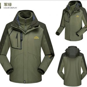 J510製作反光帶外套連帽設計直袖抓毛內膽戶外防水防風包含兩件不同功能外套..