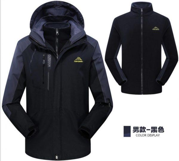 J511製作反光帶外套連帽設計直袖抓毛內膽防水防風包含兩件不同功能外套...