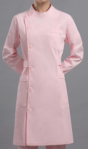 N101粉紅淨色企領護士美容診所制服
