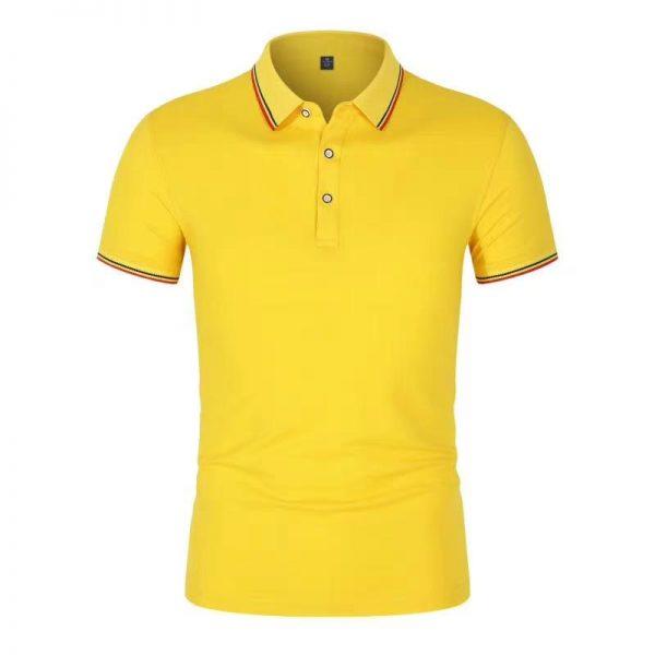 P250訂作短袖反光工業制服印花LOGO 橙色 工業制服製服公司 網眼布