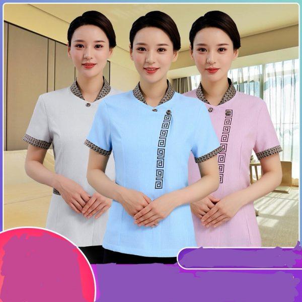 C960 女裝短袖衫酒店員工訂購